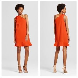 Victoria Beckham For Target Orange Scallop Dress